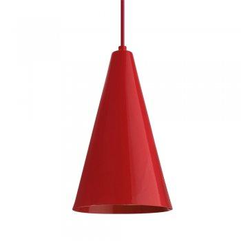 Pendente Cone GDE 30x12cm Vermelho