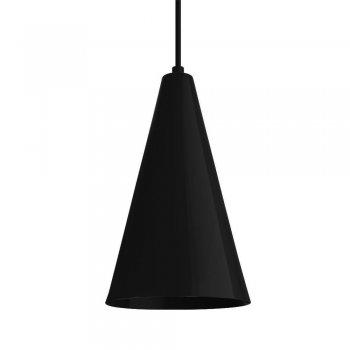 Pendente Cone GDE 30x12cm Preto